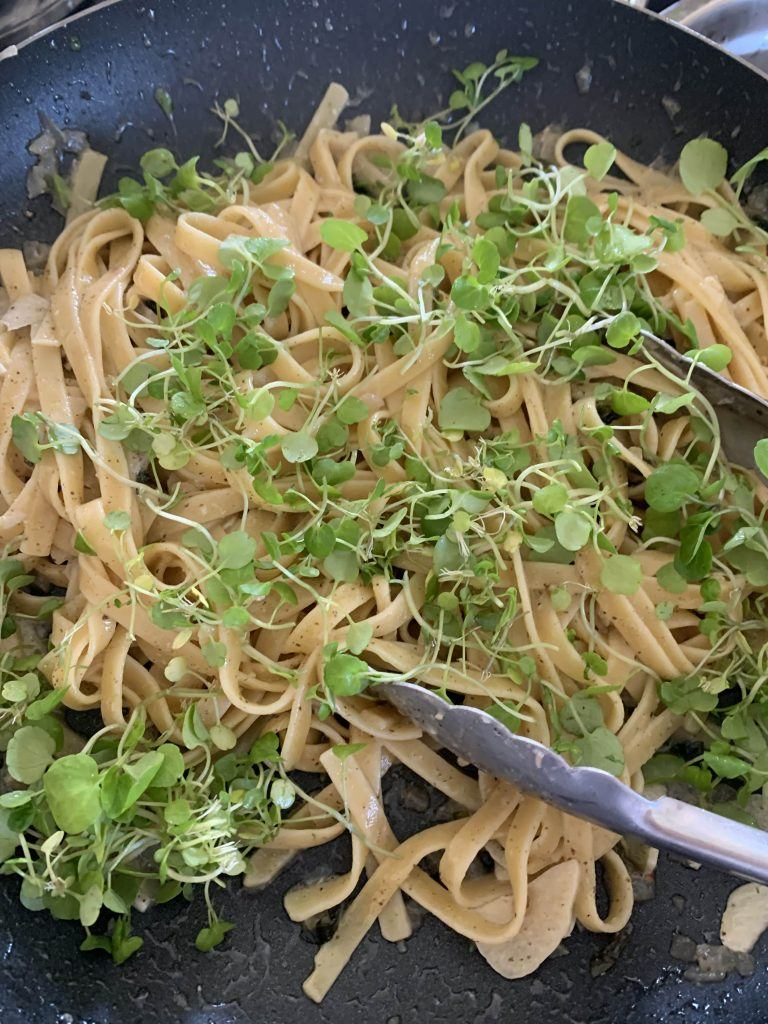 Watercress and Pasta