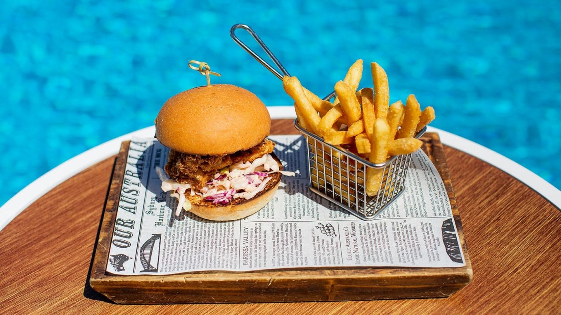 Chicken Burger from lunch menu at the Rocks
